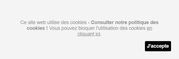Barre de cookies en Javascript
