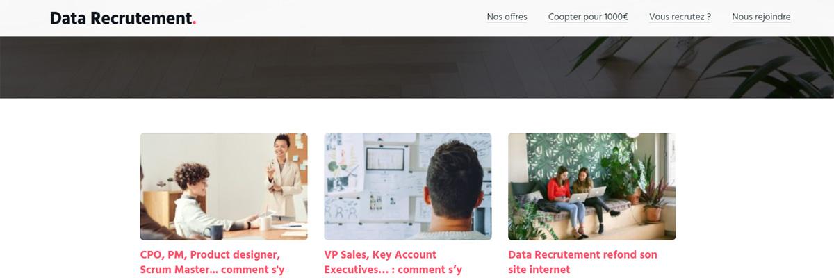 Blog actualités Data Recrutement