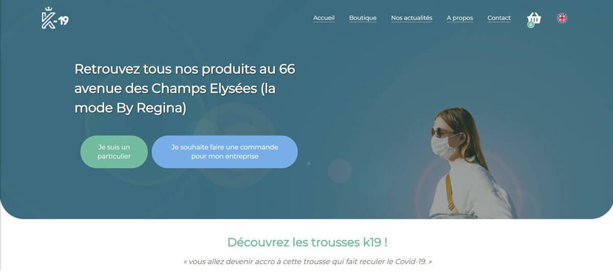 Site web K19 La Trousse