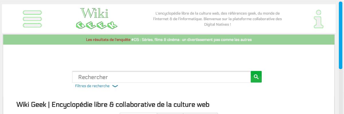 Wiki dédié à la culture geek